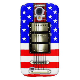 Stars and Stripes Electric Guitar Galaxy S4 Case