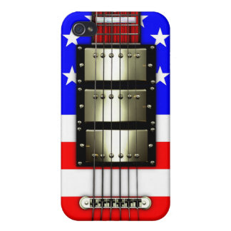 Stars and Stripes Electric Guitar Cases For iPhone 4