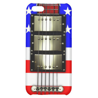 Stars and Stripes Electric Guitar iPhone 5C Cases