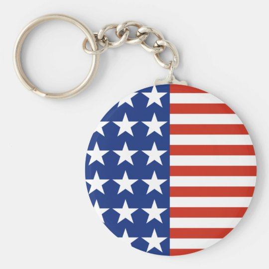 Stars And Stripes Flag Keychain