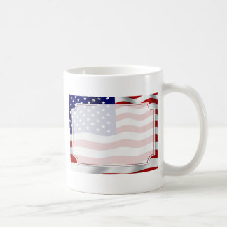 Stars and Stripes Forever Flag Memorial Day Classic White Coffee Mug