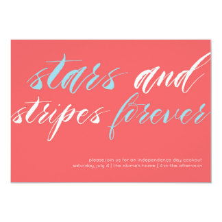 Stars and Stripes Forever July 4 Party Invitation