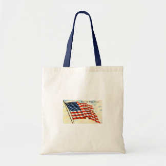 Stars and Stripes Forever July 4th Flag Budget Tote Bag