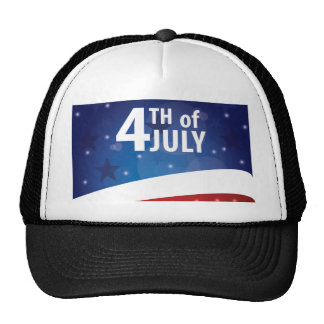 Stars and Stripes Fourth of July Mesh Hats