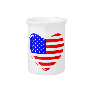 Stars and Stripes Heart Pitcher