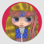 Stars and Stripes Hippie Sticker