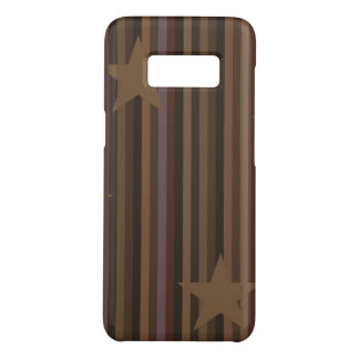 Stars and Stripes in Brown Case-Mate Samsung Galaxy S8 Case