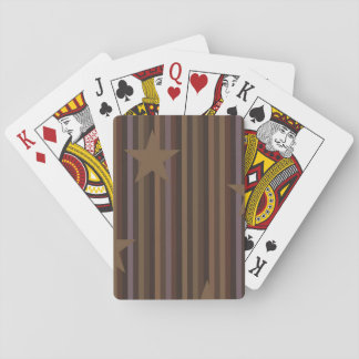 Stars and Stripes in Brown Playing Cards