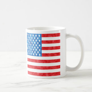 stars and stripes in watercolor coffee mug