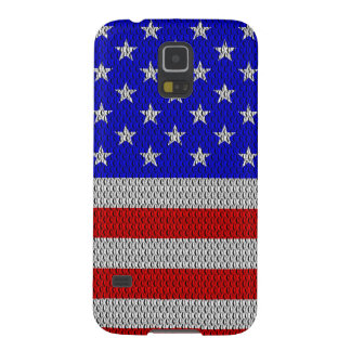 Stars and Stripes Metal Plate Effect Galaxy S5 Case