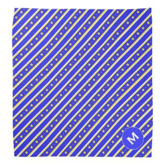 Stars and Stripes Monogrammed Dog Bandana