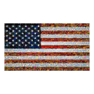 Stars and Stripes Montage - Large Poster