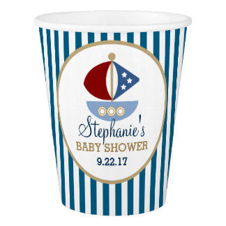 Stars and Stripes Nautical Baby Shower Paper Cup