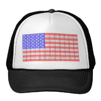 Stars And Stripes On A Fence Cap