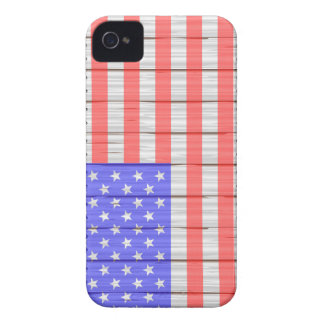 Stars And Stripes On A Fence Case-Mate iPhone 4 Case