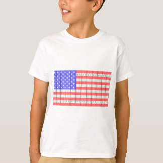 Stars And Stripes On A Fence T-Shirt