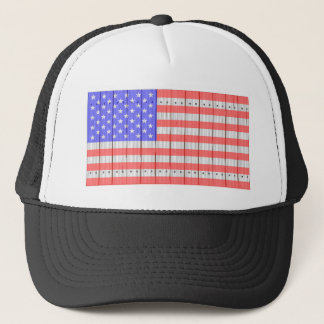 Stars And Stripes On A Fence Trucker Hat