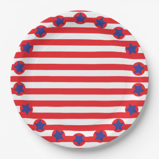 STARS AND STRIPES. PAPER PLATE