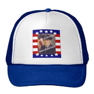 Stars and Stripes Patriotic Custom Photo Hat