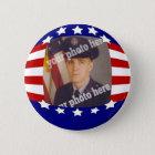 Stars and Stripes Patriotic Custom Photo Red White 6 Cm Round Badge