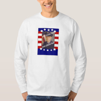 Stars and Stripes Patriotic Custom Photo Red White T-shirts