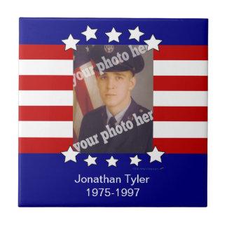 Stars and Stripes Patriotic Custom Photo Tile