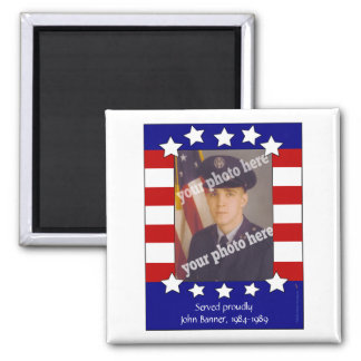 Stars and Stripes Patriotic Photo Magnet Template