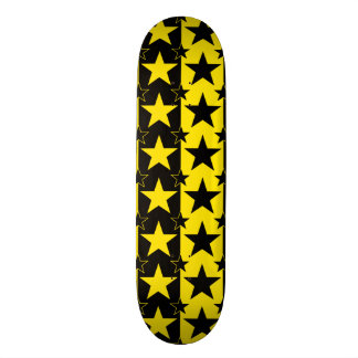 Stars and Stripes Pattern 2 Yellow Skateboard Deck