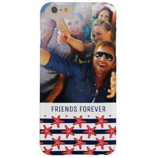 Stars And Stripes Pattern | Your Photo & Text Barely There iPhone 6 Plus Case