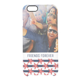 Stars And Stripes Pattern | Your Photo & Text Clear iPhone 6/6S Case