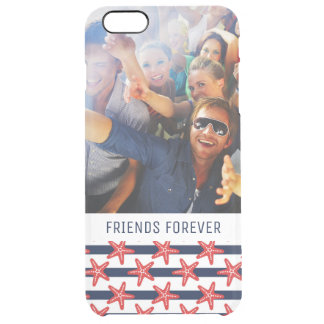 Stars And Stripes Pattern | Your Photo & Text Clear iPhone 6 Plus Case
