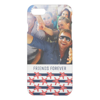 Stars And Stripes Pattern | Your Photo & Text iPhone 8/7 Case
