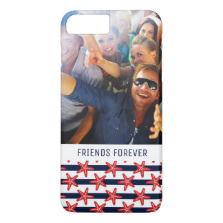 Stars And Stripes Pattern | Your Photo & Text iPhone 8 Plus/7 Plus Case