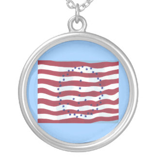 Stars and Stripes Peace Sign Flag Necklaces