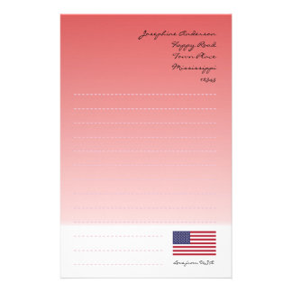 Stars and Stripes Personalized Stationery