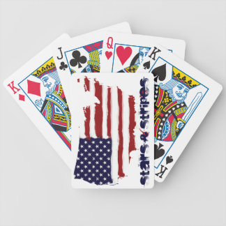 Stars and Stripes Bicycle Poker Cards