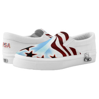 Stars and Stripes Printed Shoes