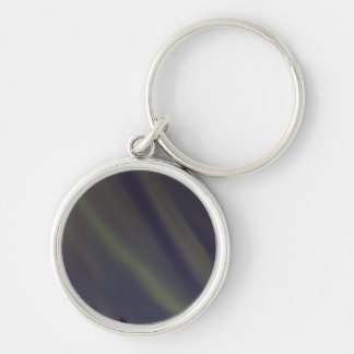 Stars and Stripes Silver-Colored Round Key Ring