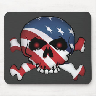 Stars and Stripes Skull Mouse Pad