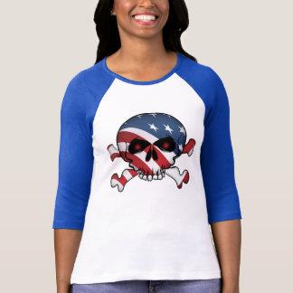 Stars and Stripes Skull T-Shirt