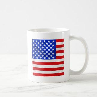 stars and stripes square draped basic white mug