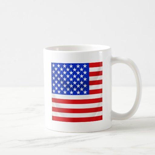 stars and stripes square draped mug