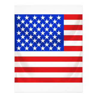 stars and stripes square draped personalized flyer