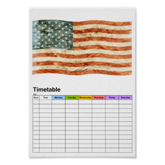 Stars and Stripes / Timetable Poster