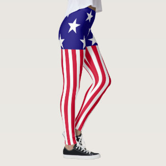 Stars and Stripes USA Decor on Leggings