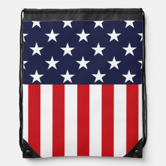 Stars and Stripes USA Flag Drawstring Bag
