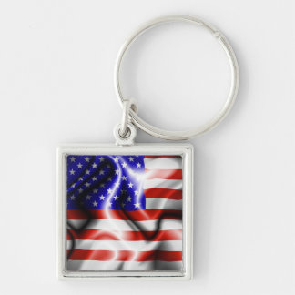 Stars and Stripes USA Flag Keychain