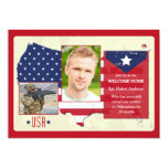 Stars and Stripes USA Photo Patriotic Invites 13cm X 18cm Invitation Card