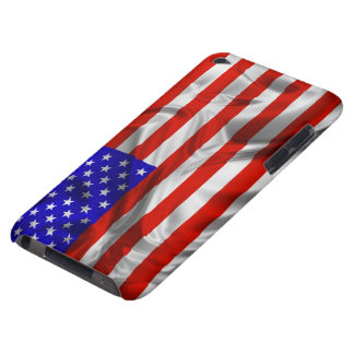 Stars and Stripes Usa Silk Flag iPod Touch Barely There iPod Cover