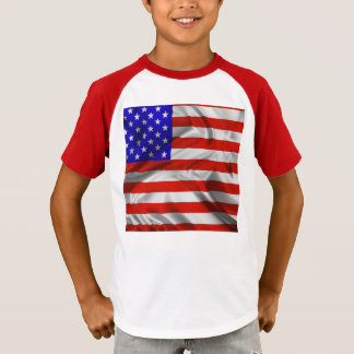 Stars and Stripes Usa Silk Flag T-Shirt